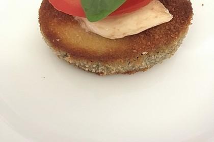 Auberginen-Scheiben mit Mozzarella 2