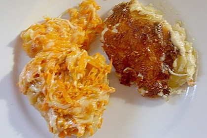 Hühnerfilet mit Käse-Karotten-Kruste und Kartoffelgratin 2