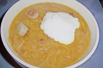 Tschechische Sauerkrautsuppe