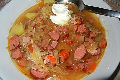 Tschechische Sauerkrautsuppe 1