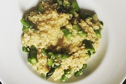 Risotto mit grünem Spargel und Parmesan 29