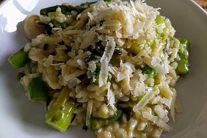 Risotto mit grünem Spargel und Parmesan 5