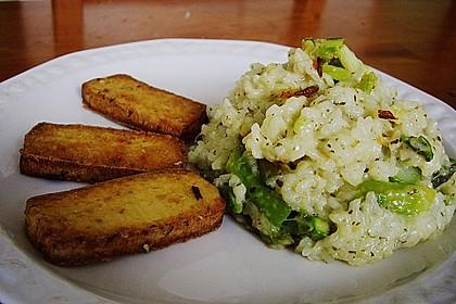 Risotto mit grünem Spargel und Parmesan 27