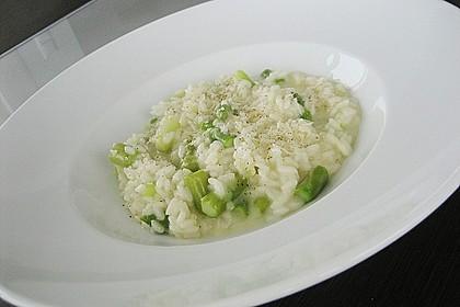 Risotto mit grünem Spargel und Parmesan 9