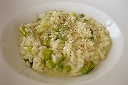 Risotto mit grünem Spargel und Parmesan 22