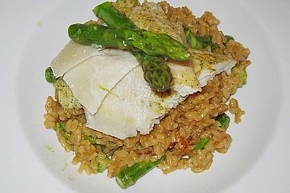 Risotto mit grünem Spargel und Parmesan 31