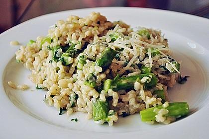 Risotto mit grünem Spargel und Parmesan 4