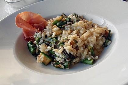 Risotto mit grünem Spargel und Parmesan 16
