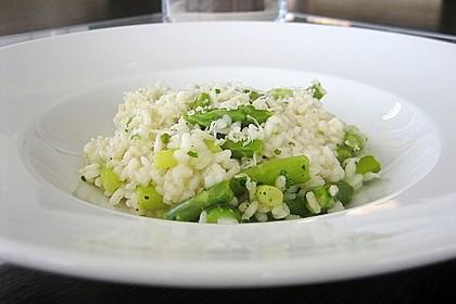 Risotto mit grünem Spargel und Parmesan 3