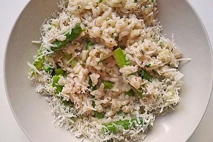Risotto mit grünem Spargel und Parmesan 39