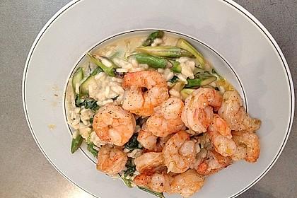 Risotto mit grünem Spargel und Parmesan 57