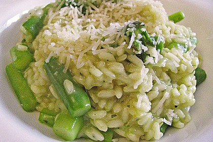 Risotto mit grünem Spargel und Parmesan 14