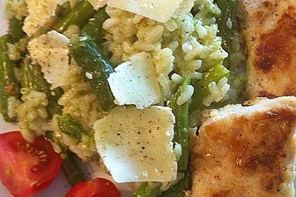 Risotto mit grünem Spargel und Parmesan 62