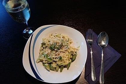 Risotto mit grünem Spargel und Parmesan 12