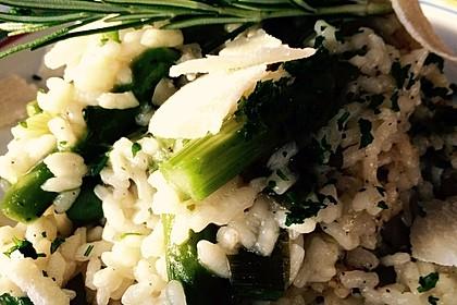 Risotto mit grünem Spargel und Parmesan 32