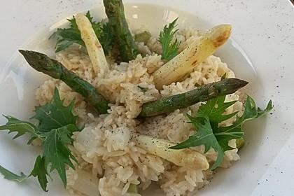 Risotto mit grünem Spargel und Parmesan 38