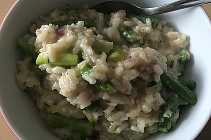 Risotto mit grünem Spargel und Parmesan 41