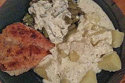 Bohnen an Thymian-Senf-Sauce 16