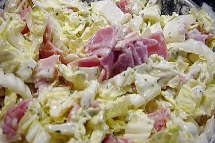 Chinakohlsalat mit Sahnesoße 10