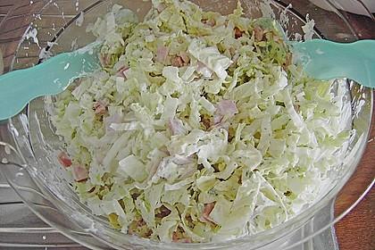 Chinakohlsalat mit Sahnesoße 1
