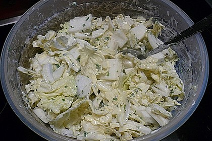 Chinakohlsalat mit Sahnesoße 9