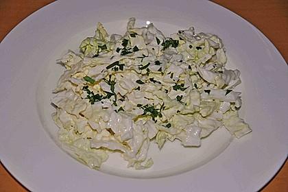 Chinakohlsalat mit Sahnesoße 8
