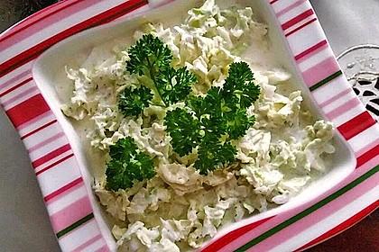 Chinakohlsalat mit Sahnesoße 5