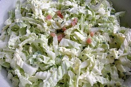 Chinakohlsalat mit Sahnesoße 3