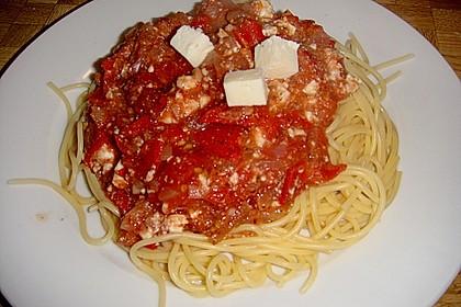 Spaghetti - Tomaten - Feta - Pfanne 13