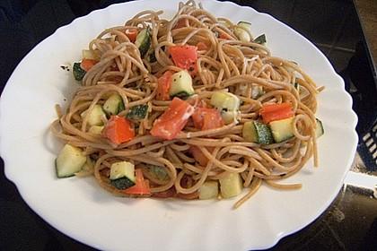 Spaghetti - Tomaten - Feta - Pfanne 10
