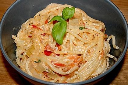 Spaghetti - Tomaten - Feta - Pfanne 2