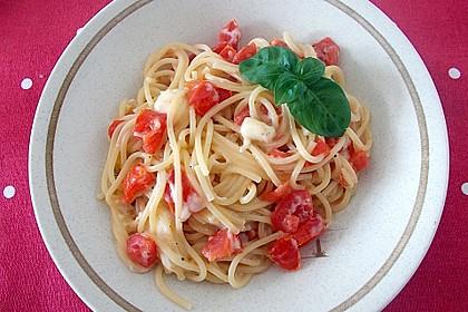 Spaghetti - Tomaten - Feta - Pfanne 4
