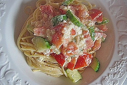 Spaghetti - Tomaten - Feta - Pfanne 11