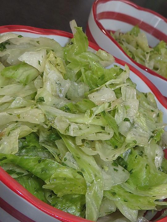 salat mit essig und l rezept mit bild von christ koenig. Black Bedroom Furniture Sets. Home Design Ideas