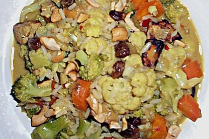 Curry - Gemüse mit Tofu 14