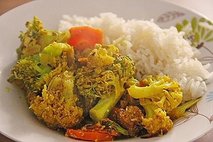 Curry - Gemüse mit Tofu 2