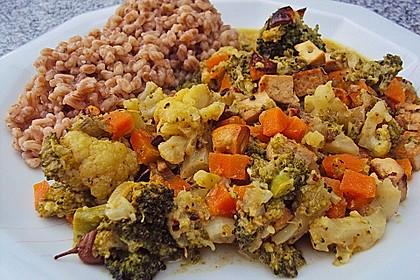 Curry - Gemüse mit Tofu 3