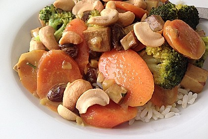 Curry - Gemüse mit Tofu 5