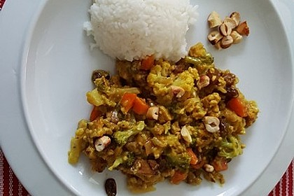 Curry - Gemüse mit Tofu 8