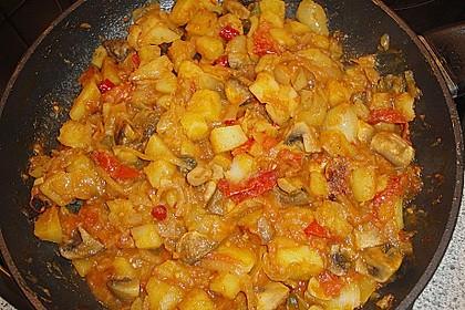 Bhujia mit Kartoffeln, Zwiebeln und Tomaten 1