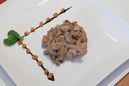 Putengeschnetzeltes mit Balsamico Sahnesoße 1