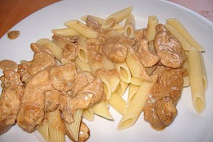 Putengeschnetzeltes mit Balsamico Sahnesoße 16