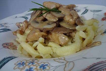 Putengeschnetzeltes mit Balsamico Sahnesoße 7
