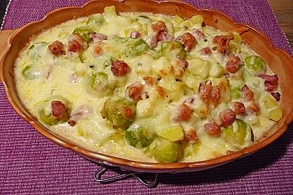Rosenkohl - Kartoffel - Auflauf 1