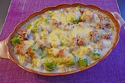 Rosenkohl - Kartoffel - Auflauf 4
