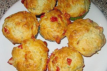 Tomaten - Mozzarella - Muffins 2