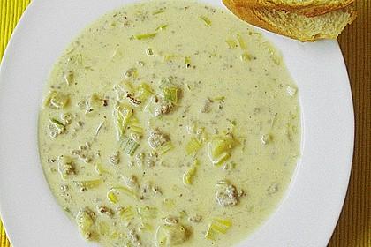 Käse-Lauchsuppe 4