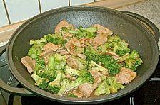 Schweinefilet mit Brokkoli in Austernsauce