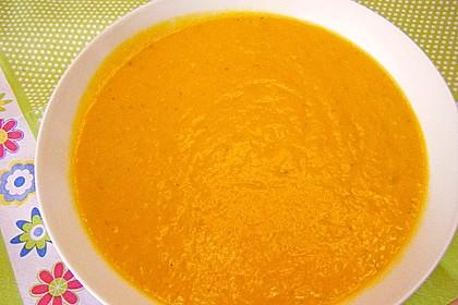 Fruchtige Kürbis - Mango - Suppe 4