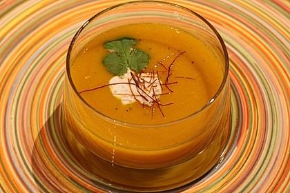 Fruchtige Kürbis - Mango - Suppe